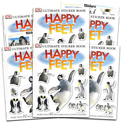 Happy Feet Stickers Happy Feet Penguins Party Favors Pack -- Set of 6 Activity Books with Over 360 Stickers (Penguin Party Supplies)