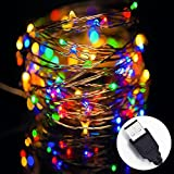 LED String Lights, SOLLA String Copper Wire Lights USB Powered, 33ft 100LEDs Color, Waterproof Starry String Lights D¨¦cor Rope Lights for Indoor Outdoor Wedding Party Christmas Holiday Patio