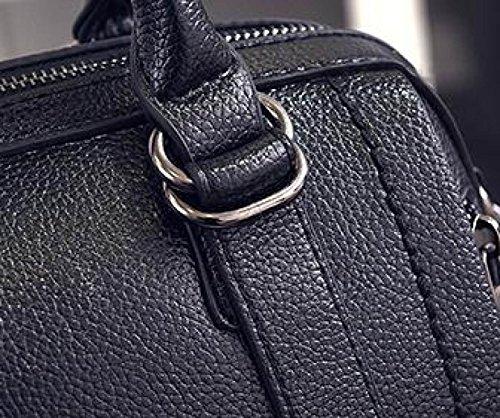Delle Tracolla Donne Elegante Modo Di Messaggero Pelle Signore In Nero nero HpnxcqHW7