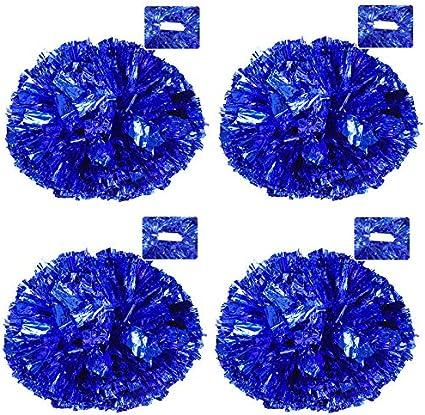 1 dozen - Bulk Metallic Blue Pom Poms Toy