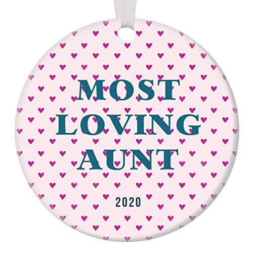2020 Dated Christmas Ornaments Amazon.com: Ideal Gift for Most Loving Aunt Christmas Ornaments
