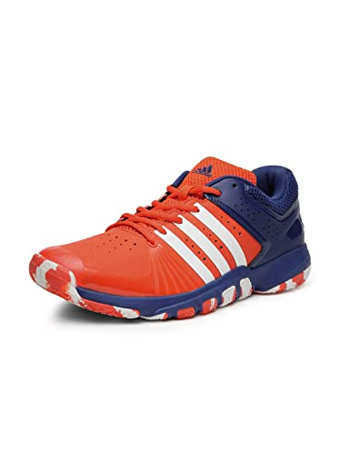 d632293fb43ddb Adidas Men s Quick Force 5.1 Orange Blue Badminton Shoes-8 UK India (