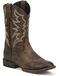 7221 Justin Men's Stampede Western Boots - Distressed Brown - 10.5 - D