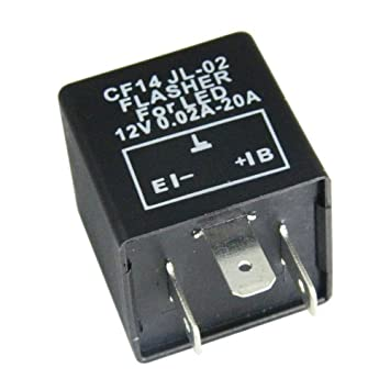 Mintice/™ Kfz Motorrad Lastunabh/ängig Blinkrelais LED-geeignet 12V 0,02-20A 3Polig Flasher Blinker KRAD CF13