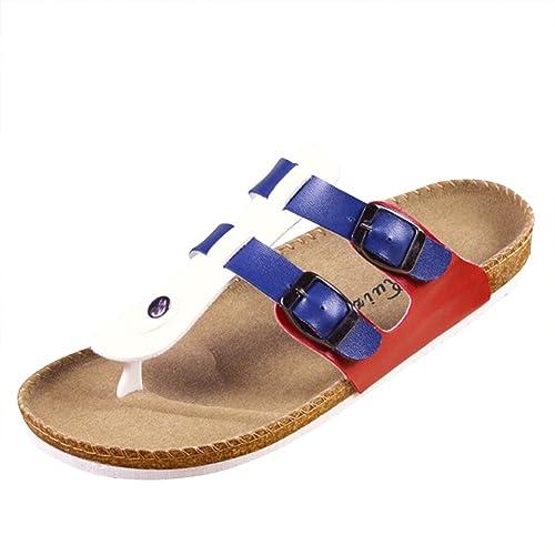 Unisex Adulto Sandali Sughero - Pantofole Eleganti - Ciabatte Comodi Blu  Rosso EU 42.5  Etichetta 45  Amazon.it  Scarpe e borse ce721c43fc0