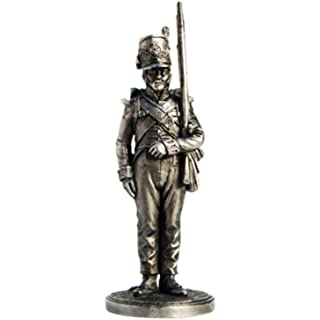 Private Battalion Company 44 East-Essex Regiment. Great Britain 1812-15 Tin Metal 54mm Action Figures Toy Soldiers Size 1/32 Scale for Home Décor Accents Collectible Figurines Item #NAP31