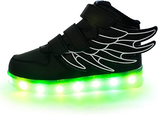 Girls Kids CHILDRENS Green Orange Boots Flashing LED lights multicolour infants