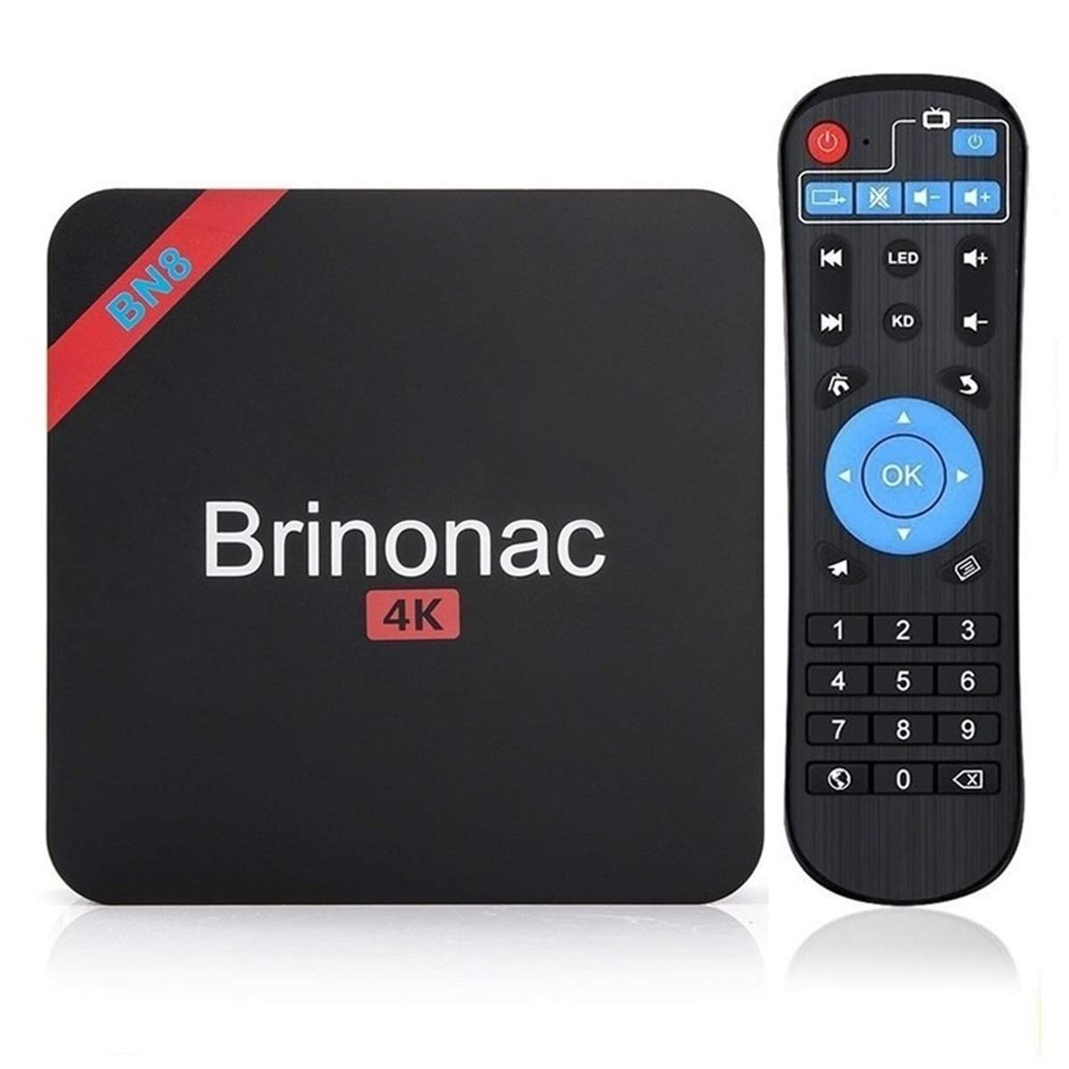 Brinonac BN8S Smart Android 7.1 TV Box Amlogic S905w Quad Core 4K HD Player with Wifi 2G RAM 16G ROM by Brinonac