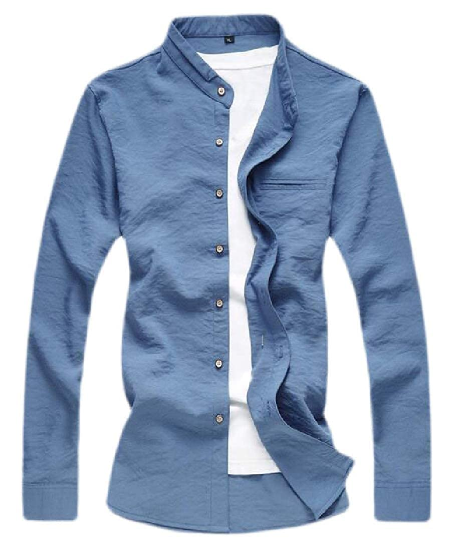 Xswsy XG Men Fashion Shirt Slim Fit Long Sleeves Solid Button Down Shirt