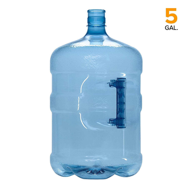 GEO 5 Gallon BPA Free PET Plastic Crown Cap Water Bottle Container Jug