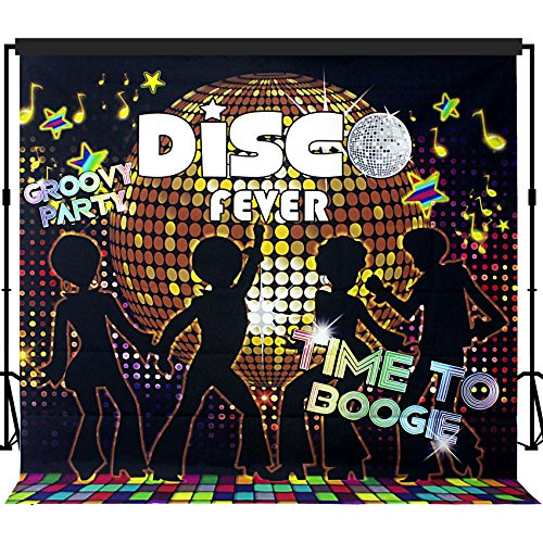 Musykrafties Disco Party Backdrop Banner Scene Setters 7x7 ft for $<!--$26.99-->