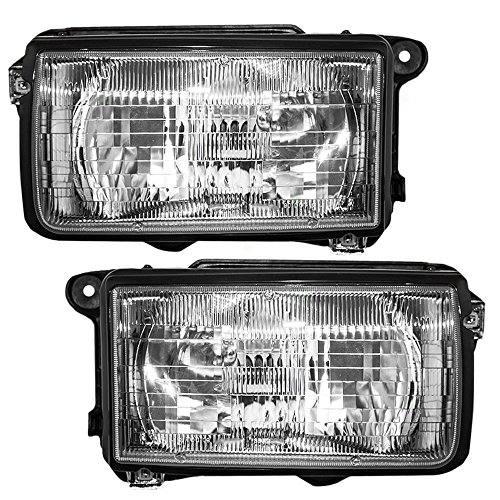 Driver and Passenger Headlights Headlamps Replacement for Honda Isuzu SUV 8-94314-626-2 8-94314-625-3 -
