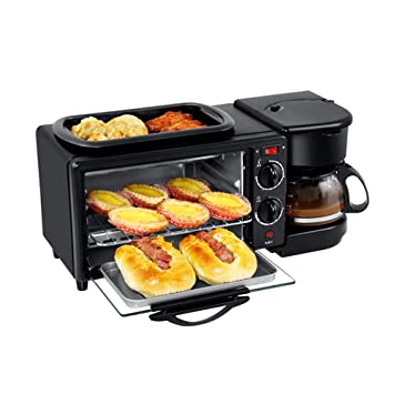Guowy Tres-En-Uno Multi-Función Pan Máquina De Desayuno Máquina Tostadora Horno Eléctrico Aparatos Pequeños Regalos: Amazon.es