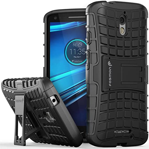 DROID Turbo 2 Case - Fosmon HYBO-RAGGED Detachable [Hybrid | Dual Layer]