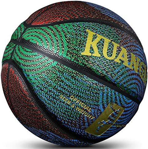Kuangmi Cool Basketball Personality Streetball for Men Women Teenager Youth Size 6 Size 7