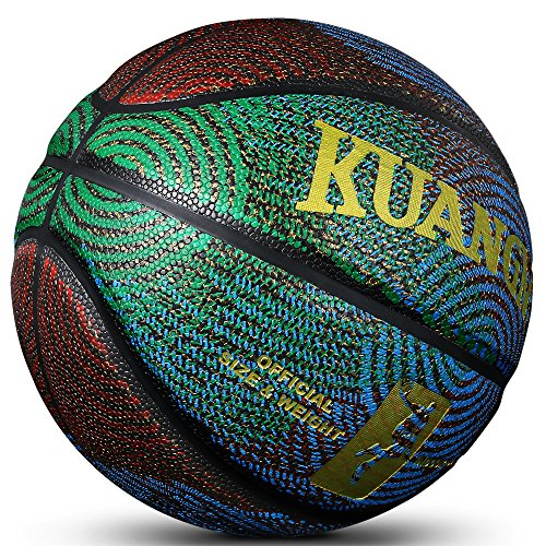 Kuangmi Cool Basketball Personality Street Ball for Men Youth Teenager (Official Size 7 (29.5