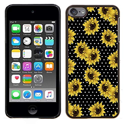 SaiCase - Hard Cover for Touch 5 / Touch 6 Case - Sunflower Polka Dots - Designer Plastic Snap On Case (Ipod Touch Designer Case)