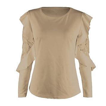 Mujer camisa manag larga moda Otoño,Sonnena ❤ Camisa de manga larga de color