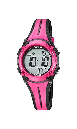 Calypso Reloj Digital para Unisex de Cuarzo con Correa en Plástico K5682/9: Amazon.es: Relojes