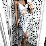 SCSAlgin bra Sexy Women Solid Lace Bralette Bustier Crop Top Bra Shirt Vest (White, S)