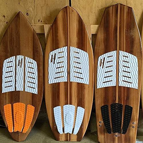 Shortboard Basage Pad Di Trazione 3 Pezzi Tavola Da Surf Tavola Da Surf 3 Metri Autoadesiva Eva Longboard Pad Per Tavole Da Surf Bianco Longboard Skateboard Sport E Tempo Libero Surf