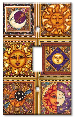 Art Plates - Celestials Switch Plate - Single Toggle by Art Plates
