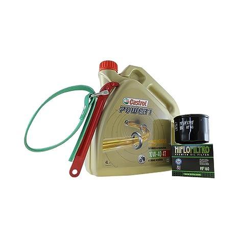 Cambio de aceite Set 4 litros Castrol SAE 10 W de 40 Power 1 ...