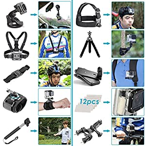 Neewer 50-In-1 Action Camera Accessory Kit for GoPro Hero Session/5 Hero 1 2 3 3+ 4 5 SJ4000 5000 6000 DBPOWER AKASO VicTsing APEMAN WiMiUS Rollei QUMOX Lightdow Campark And Sony Sports DV and More
