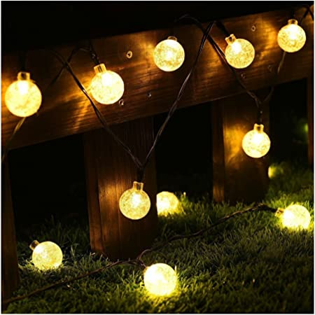 String Lights 20Ft 30 LED Solar Powered Outdoor Garden Home Wedding Patio OxyLED