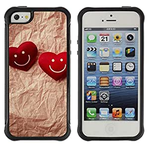 "Hypernova Defender Series TPU protection Cas Case Coque pour Apple iPhone SE / iPhone 5 / iPhone 5S [Amor pareja feliz""]"