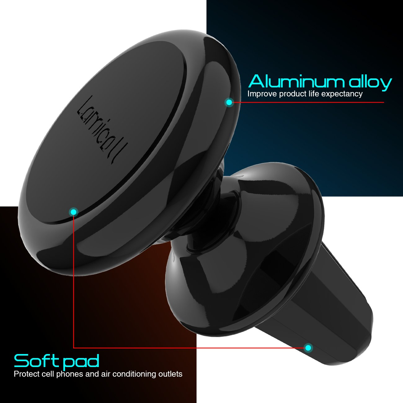 Magnetic Phone Car Mount Lamicall Phone Holder : Universal Cradle Stand Holder Compatible with Phone 8 X 7 7P 6s 6P 5S LG Google Pixel Other Smartphones C-US-Bb Huawei Galaxy S5 S6 S7 S8