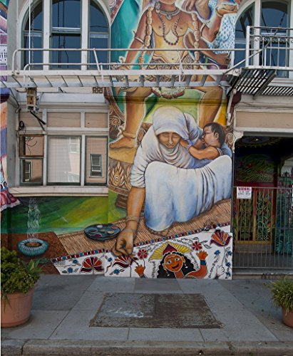 - 18 x 24 Art Canvas Print of Maestrapeace Mural on The Women's Building in The Mission District in San Francisco California r55 2012 by Highsmith, Carol M,