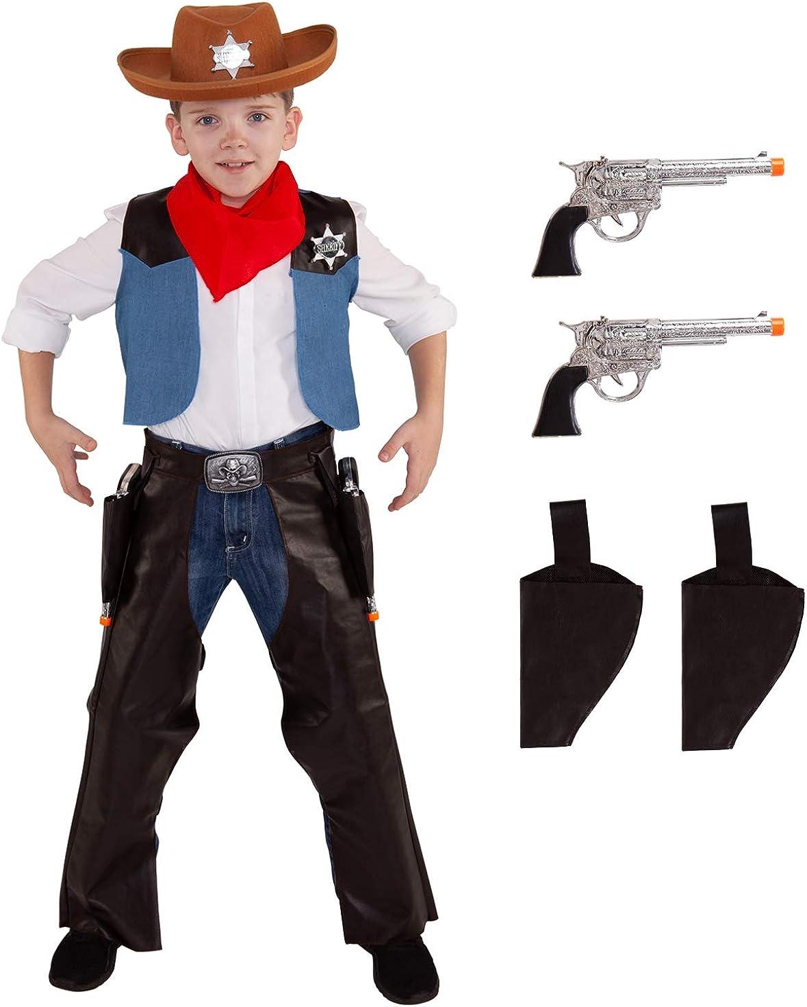 New Cowgirl Cowboy Fancy Dress Costume Boys Girls Childs Wild West Western Kids