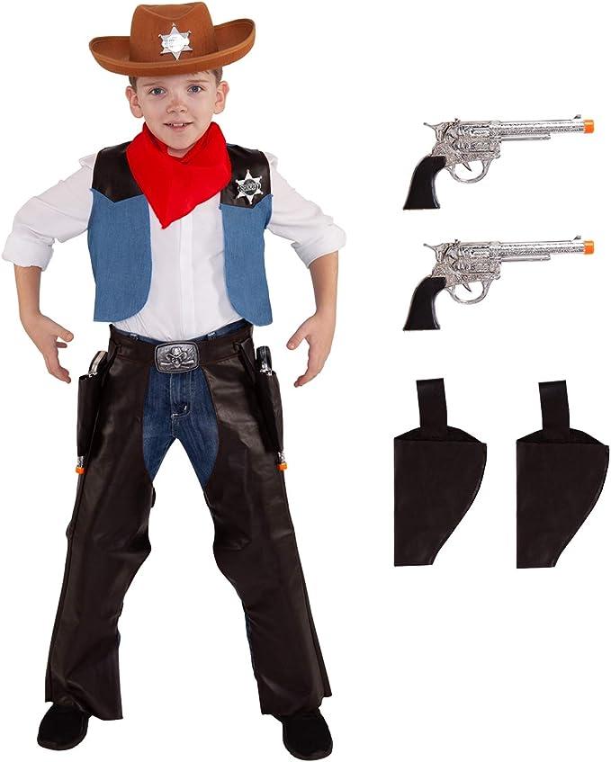 Disfraz de Vaquero para niños de Wild West Sheriff Outfit Western ...
