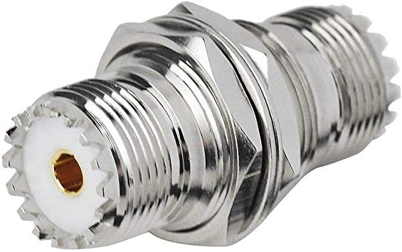 Maxmoral UHF Female to Female Jack SO239 Bulkhead Connector RF Coax Coaxial Adapter Female Connector