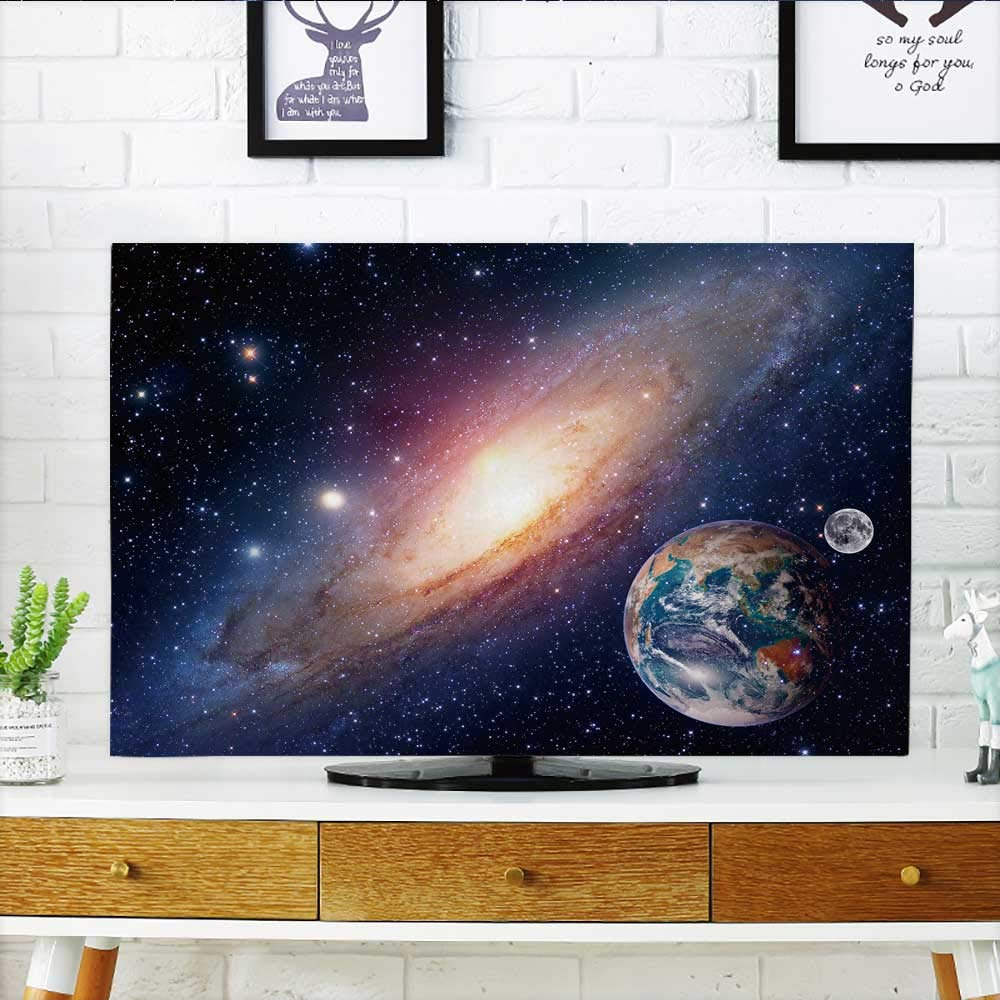 Philiphome Cord Cover for Wall Mounted tv Astrology Astronomy Earth Moon Space Bang Solar System Planet Cover Mounted tv W32 x H51 INCH/TV 55''
