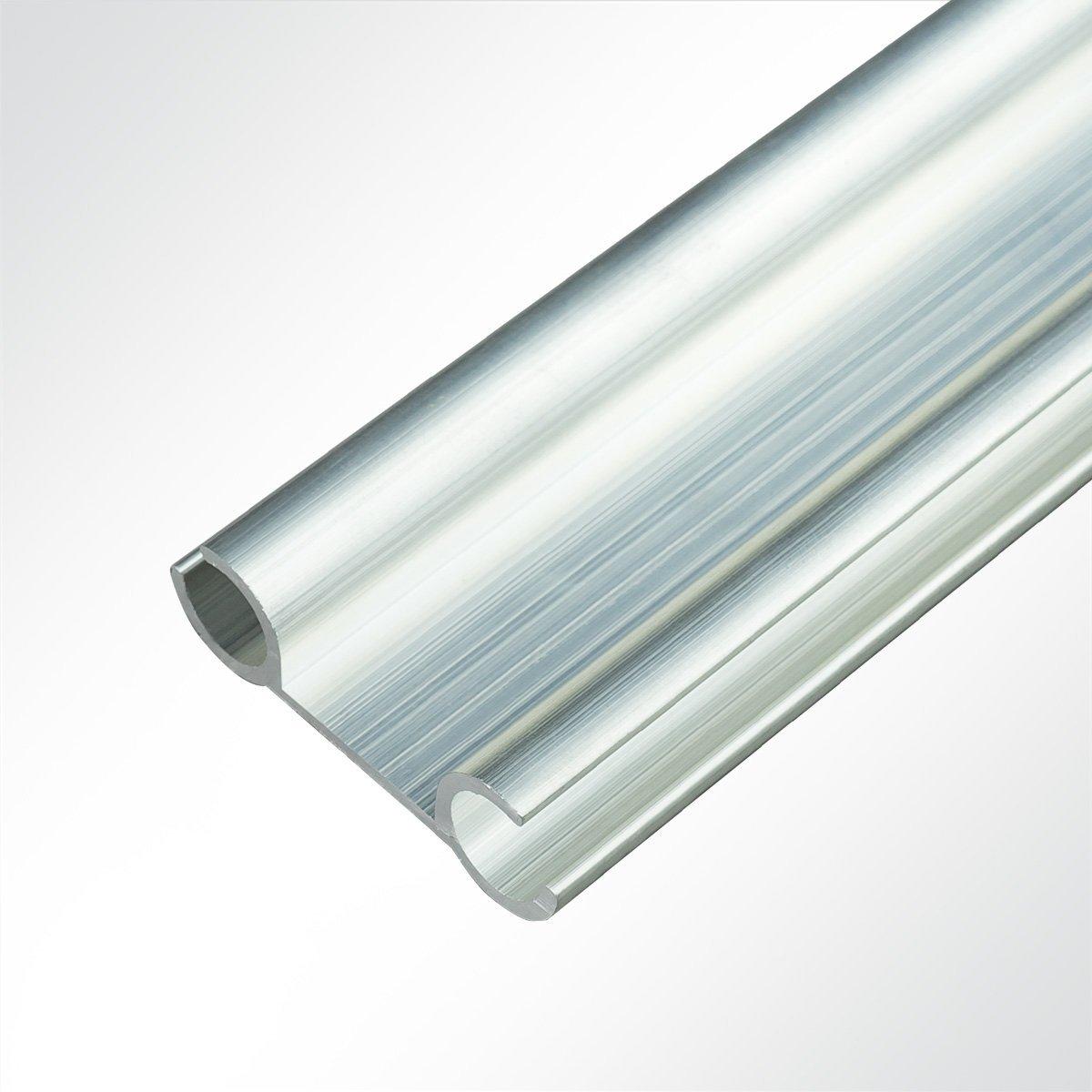 LYSEL Aluminium Verbundprofil Doppelkederschiene Vorzeltkederschiene 12x40mm 1 Meter