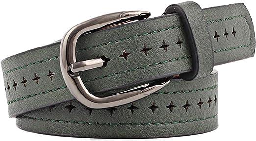 Verde Emorias 1 Pcs Cinturon Cuero Mujer Moda Correas Ni/ña Vaqueros Vestido Ropa Accesorios
