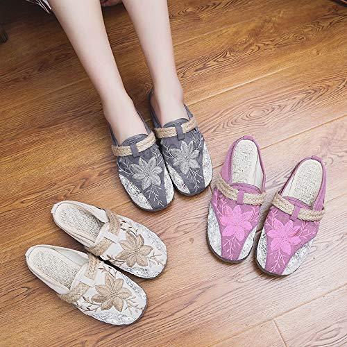 40 EU Rose coloré Gris Taille ZHRUI Chaussures w7vaxqfp