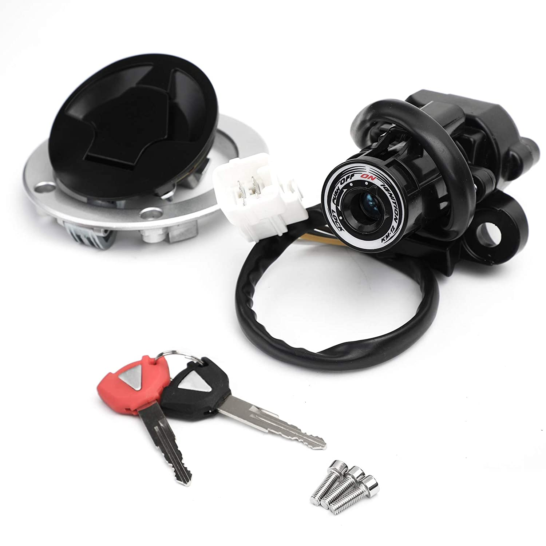 Ignition Switch Fuel Gas Cap Lock Key Set For Kawasaki Ninja 650 EX650 2012-2016
