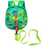 DB Dinosaur Children Backpack with Leash, Anti-Lost Children Backpack, Toddler Backpack,Cartoon Backpack for Toddler 1-3 Years
