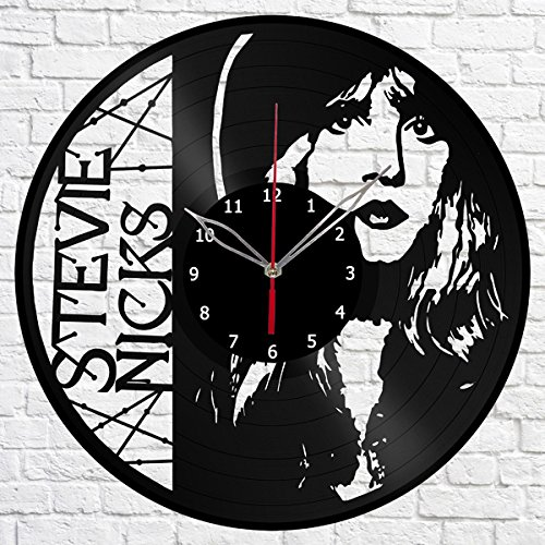 Stevie Nicks Music Vinyl Record Wall Clock Fan Art Handmade Decor Original Gift Unique Decorative Vinyl Clock 12″ (30 cm) For Sale