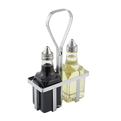 Winco WH-5 Oil and Vinegar Cruet Rack, Chrome Plated