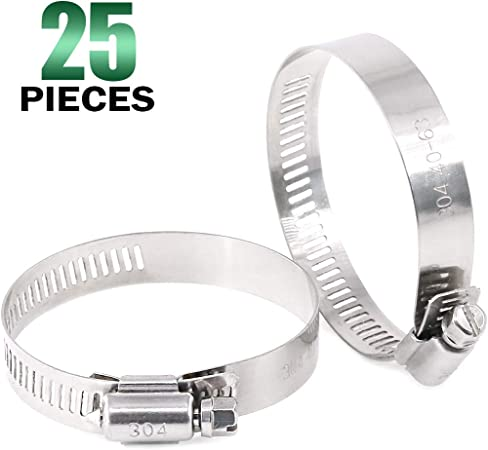 Adjustable Clamp Line Water Clips Worm Pipe Stainless Steel Fuel