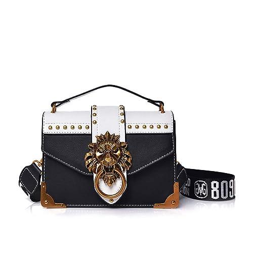 5334dbd2f62 ASPLOU Small Designer Crossbody Bags For Women Punk Shoulder Bag Ladies  Handbags Lion Head Ring Bags