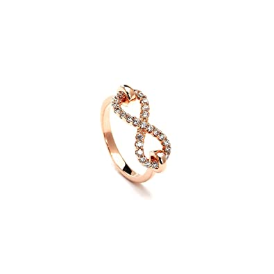Buy Infinity Studded Elegant Rose Gold Plated Fashion Ring line