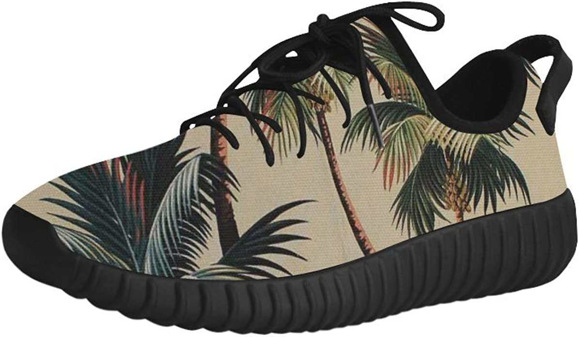 D-Story Palm Tree Grus Mens Boost Shoes Boost Sneakers Energy Bounce Breatheable Woven Running Mens Shoes