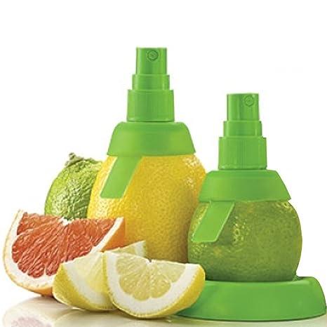 2 Piezas Extractor Pulverizador de Limón Naranja Exprimidor Manual Spray de Jugo Zumo