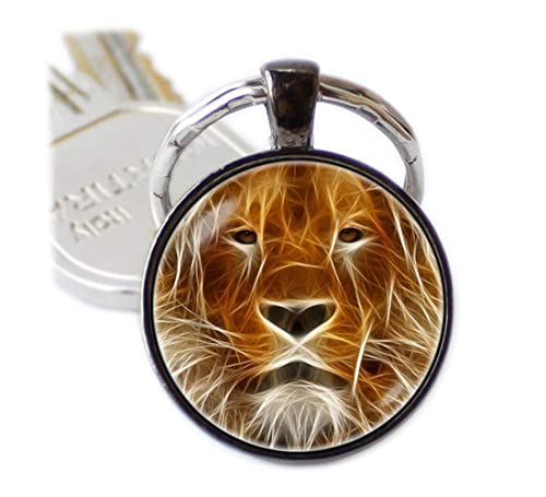 León llavero Fire León rey León clave cadena África Animal ...