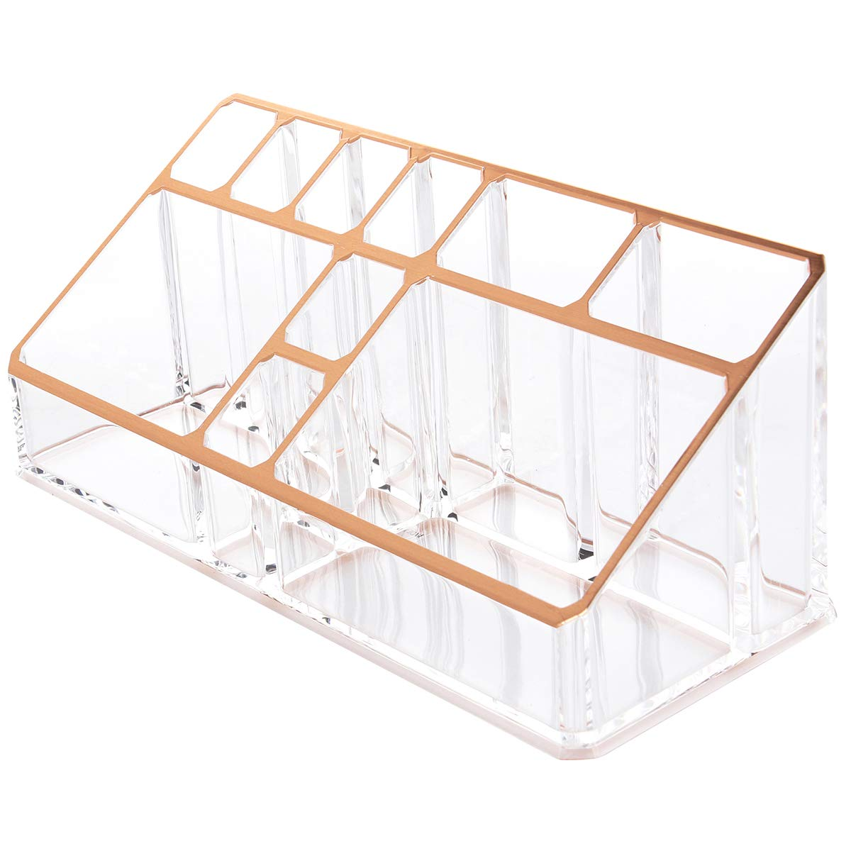 Anladia Rose Gold Beauty Organizer Jewelry Cosmetic Accessories Make Up Storage Boxes